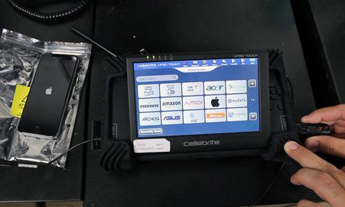 Minh họa một bộ công cụ mở khóa các mẫu smartphone của Cellebrite.