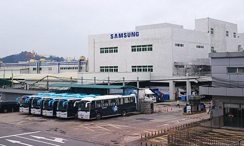 Một góc nhà máy Samsung Huệ Châu.
