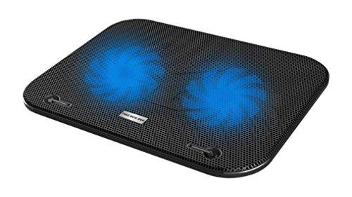 Đế tản nhiệt Tree New Bee(giá 570.000 đồng) thiết kế mỏng nhẹ, có thể sử dụng cho các loại laptop có kích thước từ 14-15.6 inch. Đế tản nhiệt được trang bị 2 quạt đôi Turbo lớn cho khả năng tản nhiệt mạnh mẽ, bề mặt là những tấm lưới nhôm cách nhiệt chống trượt.