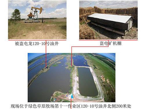 Điện từ mỏ dầu được truyền tải qua dây dẫnchạy qua các đầm nước về xưởng đào Bitcoin.