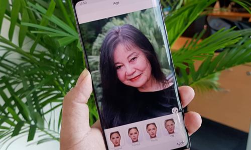 Ứng dụng FaceApp đang thịnh hành ở Việt Nam và một số nước trên thế giới sử dụng AI để biến đổi hình ảnh người dùng. Ảnh: Bảo Lâm.