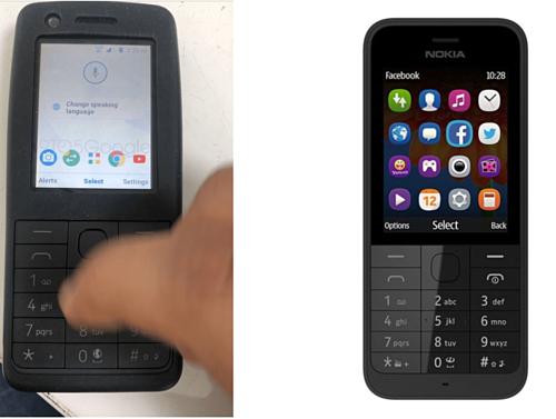 Mẫu featurephone của Nokia có trợ lý ảo Google Assistant và trình duyệt Chrome.