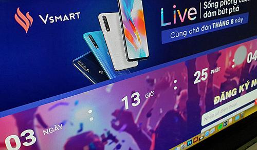 Thông tin về điện Vsmart Live xuất hiện trên một trang thương mại điện tử. Thời gian đếm ngược cho ngày ra mắt sản phẩm là 3 ngày.