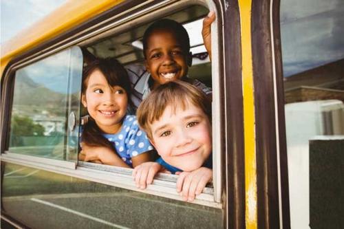 Xe bus tại Mỹ được lắp hệ thống định vị GPS cho phụ huynh theo dõi lộ trình.