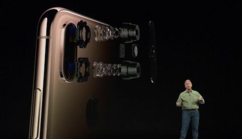 Apple giới thiệu về camera kép trên iPhone XS. Ảnh: TechCrunch.