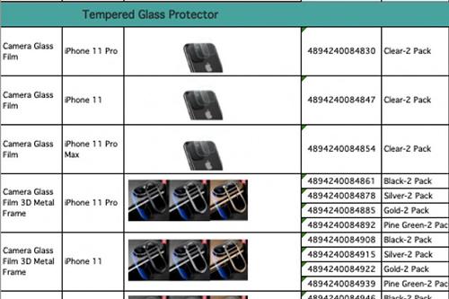 Tên của 3 mẫu iPhone mới xuất hiện trên trang của một nhà sản xuất phụ kiện. Ảnh:iphonesoft.fr