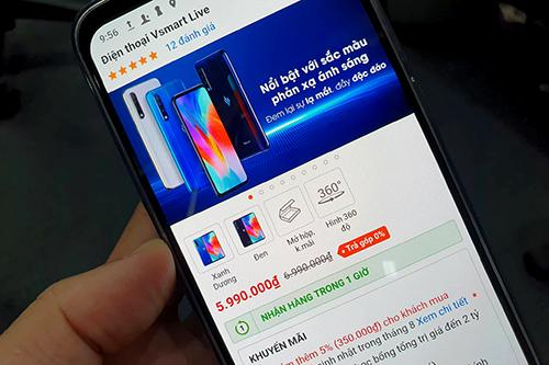 Vsmart Live hiện có giá 5,99 triệu đồng tại nhiều đại lý.