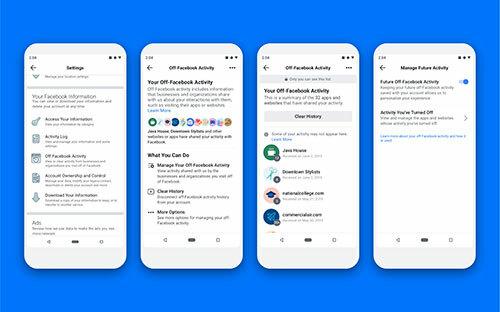Giao diện của công cụ mới cho phép xem bản tóm tắt, ngắt kết nối hoặc vô hiệu hóa hoàn toàn dữ liệu mà các trang web thu thập và chia sẻ lại cho Facebook.