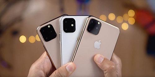 Camera ba ống kính trên iPhone 11 đang được sản xuất.