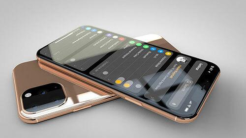 Thiết kế được cho là của iPhone 11 mới với cụm camera 3 ống kính.