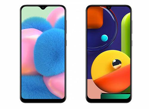 Galaxy A30s (trái) và Galaxy A50s (phải).