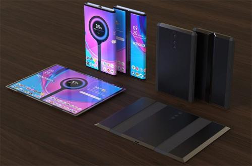 Hình dung về smartphone gập ba của Xiaomi - 1