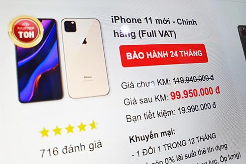 Nhiều cửa hàng tại Việt Nam đã bắt đầu cho đặt trước iPhone 11.