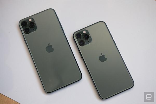Màu xanh mới trên bộ đôi iPhone 11 Pro và 11 Pro Max. Ảnh: Engadget