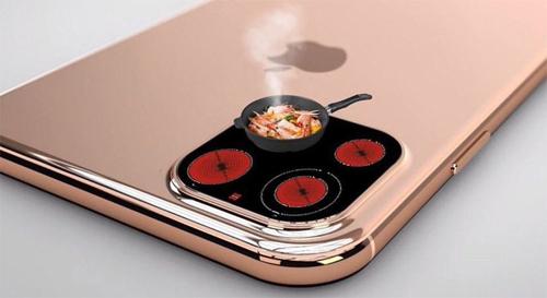 Hệ thống camera phía sau của iPhone mới được cho là siêu to khổng lồ, đủ để biến thành bếp từ.