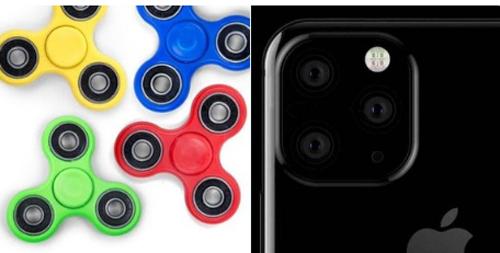 iPhone bên phải là thiết bị mơ ước, còn chiếc spinner bên trái là thiết bị thực tế mà nhiều người dùng có thể mua được.