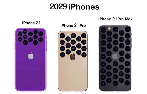 Còn đây là iPhone 2029 với số camera ngày càng to và nhiều.
