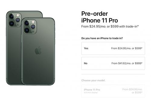 iPhone 11 Pro màu Midnight Green đã bị lùi thời gian giao hàng so với các màu khác.
