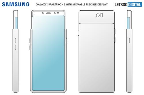 Hình ảnh về bằng sáng chế mới của Samsung.