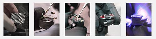 Quá trình lắp ráp thủ công ở nhà máyJerry Harvey Audio tạiOrlando, Florida (Mỹ).