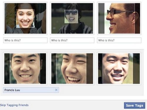Tính năng gợi ý tag bạn bè thông qua nhận diện khuôn mặt trên Facebook. Ảnh: ZDNet.