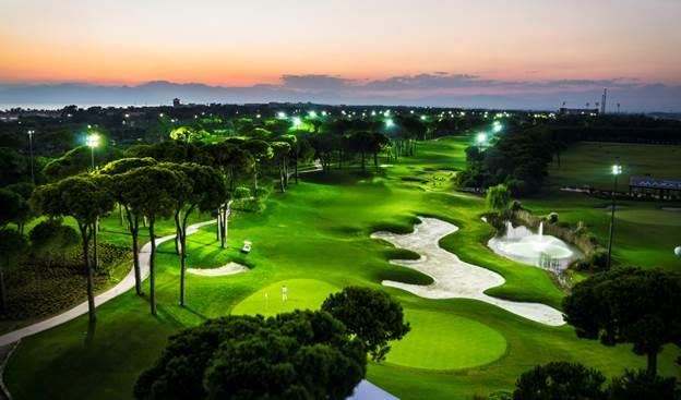 Montgomerie Maxx Royal Belek Golf Resort tại Thổ Nhĩ Kỳ với hệ thống đèn Philips LED.