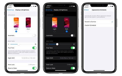 Để kích hoạt chế độ tối trên iOS 13, người dùng cần truy cập Settings rồi vào Display & Brightness. Ảnh: MacRumors