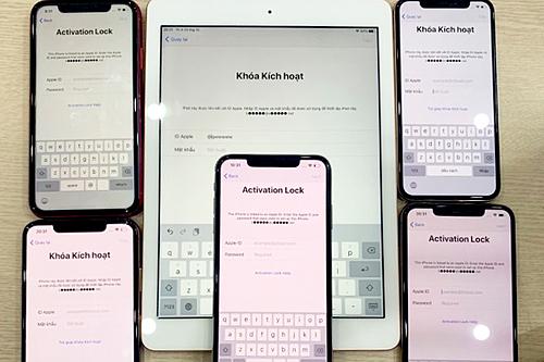 Hàng loạt thiết bị của khách hàng Việt bị khóa iCloud. Ảnh: Thế Hoàng