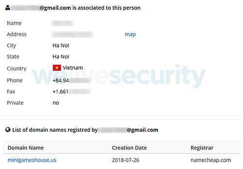 Thông tin vè người phát hành được hãng bảo mật ESET tìm ra.
