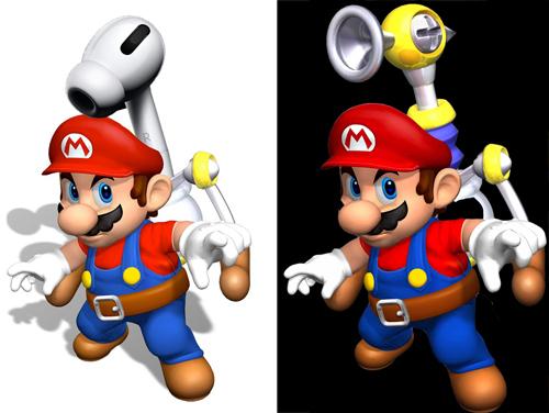 Súng nước AirPods Pro đã được Mario sử dụng từ lâu.
