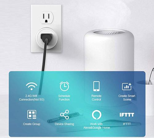Một số ổ cắm thông minh cho phép kết nối với loa thông minh của Alexa, Google để điều khiển bằng giọng nói. Ảnh. Ubuy.