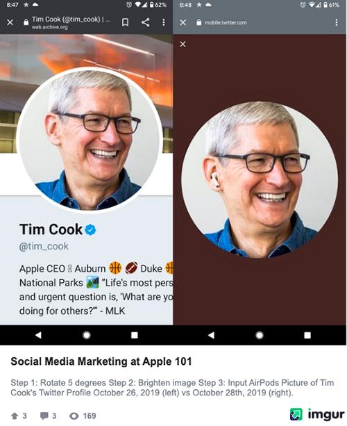 Hình ảnh châm biếm 101 cách tiếp thị truyền thông xã hội của Apple.