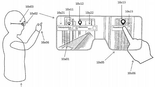 Bằng sáng chế của Apple rò rỉ trước đây tiết lộ về thiết bị AR cho phép người dùng tương tác theo nhiều cách khác nhau. Ảnh: Mac Rumors