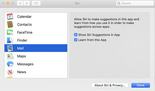 Vô hiệu hóa tính năng học từ Apple Mail là cách để ngăn máy tính Mac tự động thu thập dữ liệu cá nhân. Ảnh: 9to5mac