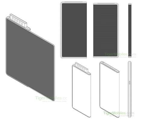 Ý tưởng smartphone gập mới của Xiaomi mi. Ảnh: TigerMobiles.