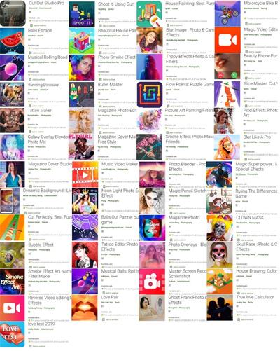 49 ứng dụng chứa mã độc quảng cáo mới được Trend Micro công bố. Ảnh: Phone Arena