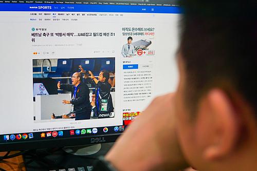 Các bài viết về đội tuyển bóng đá Việt Nam thu hút lượng quan tâm lớn tại Hàn Quốc, Thái Lan. Ảnh minh họa