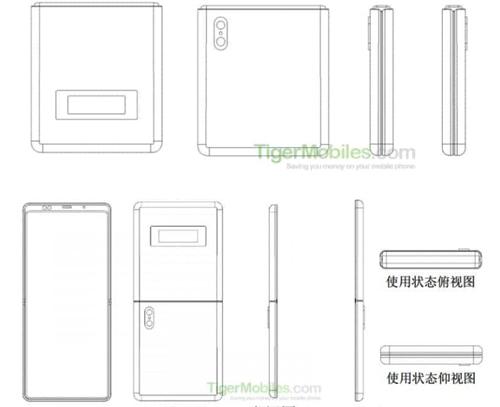 Bản vẽ mô tả bằng sáng chế mới của Xiaomi. Nguồn: TigerMobiles.