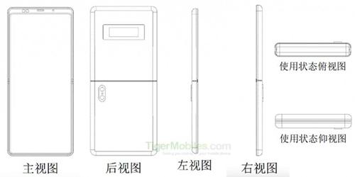 Smartphone gập của Xiaomi. Ảnh: TigerMobile.