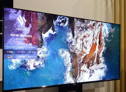 TV thông minh của Vsmart có thiết kế viền mỏng, độ phân giải 4K. Ảnh: vsmartfanclub