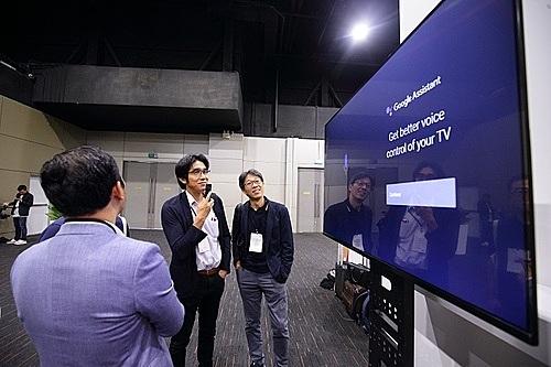 Smart TV của VinSmart được trình diễn trong một hội nghị của Google về Android TV tại Thái Lan mới đây.