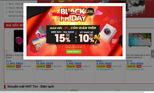 Đồ công nghệ được giảm giá mạnh trong ngày Black Friday. Ảnh: Chụp màn hình.