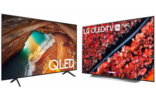 Samsung QLED đối đầu với LG OLED. Ảnh: Lifewire.
