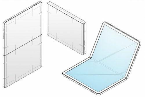 Hình ảnh về mẫu tablet màn hình gập trong hồ sơ của Samsung, được dự đoán sẽ được áp dụng cho Fold 2.