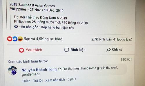 Gần 5.000 lượt thích trên một status của tài khoản Rami Taan và con số này đang tăng nhanh.