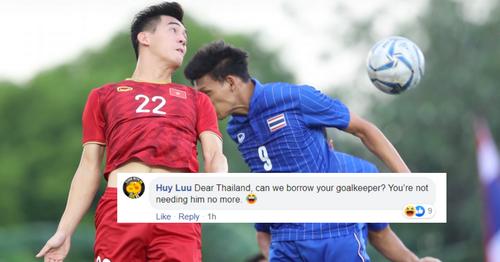 Một trong số bình luận mang ý trêu chọc cổ động viên Thái Lan trên Changsuek. Ảnh: Foxsport.