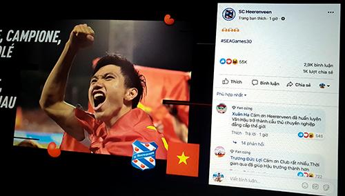 Cổ động viên Việt Nam đã bày tỏ sự biết ơn SC Heerenveen trên fanpage CLB.
