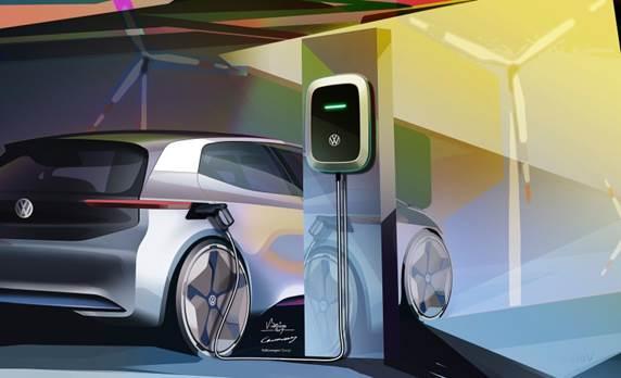 Xe điện trong tương lai của Volkswagen.