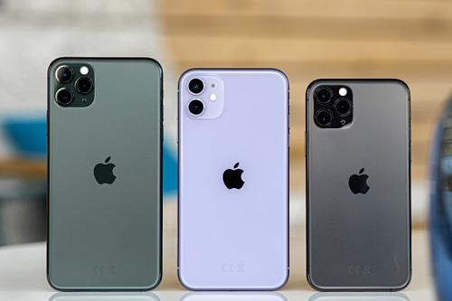 iPhone 11 Pro Max, iPhone 11 và iPhone 11 Pro có màn hình lần lượt 6,5, 6,1 và 5,8 inch. Ảnh: GSMArena.