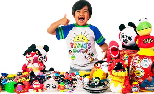 Nhờ sự trợ giúp của cha mẹ, Ryan tạo nênđế chế giải trí dành cho trẻ em. Ảnh: ToyBook.